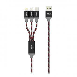 CABLE DE DATOS - Cables Reforzados con Diseño 3 en 1